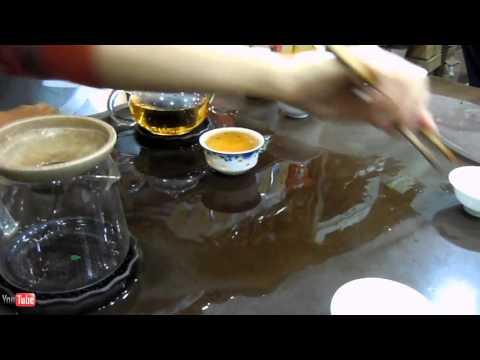 Buying Green Tea in Shenzhen, Guangdong Province, China.