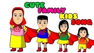 Cute Family Kids Song   Lagu Anak Anak   Nursery Rhyme