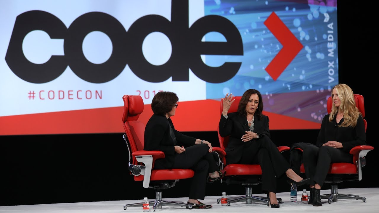 US Senator Kamala Harris and philanthropist Laurene Powell Jobs