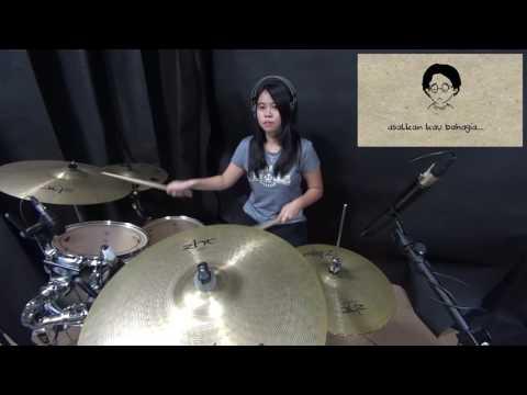 asal kau bahagia -  drum cover by Natasya