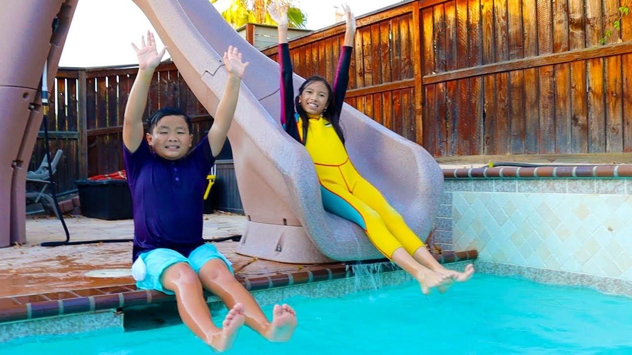 Swimming in the Pool Song | Wendy & Alex Nursery Rhymes & Songs for Kids