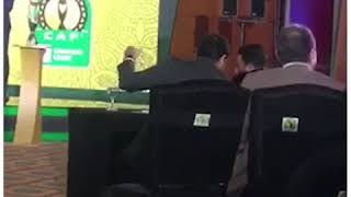 رد فعل احمد مرتضى منصور بعد مواجهة الزمالك للترجي في دوري الابطال