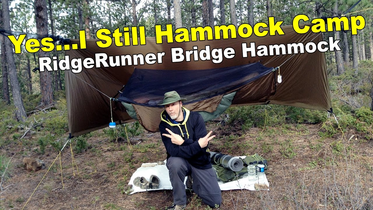 hammock camping with the warbon  ridgerunner bridge hammock and dry bake trip hammock camping with the warbon  ridgerunner bridge hammock and      rh   youtube