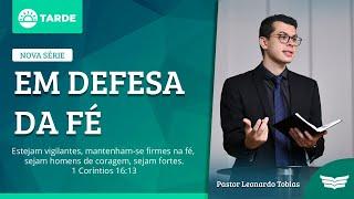 Bem  Vindo ao Culto da Tarde | Rev. Leonardo Tobias - Atos 17