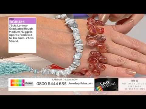 bead scoop and Plum Pearls for jewellery making : JewelleryMaker LIVE 24/10/2014