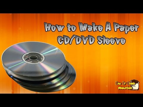 How To Make A Paper CD/DVD Sleeve