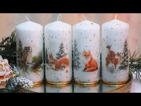 DECORATION CHRISTMAS CANDLES IDEAS DIY