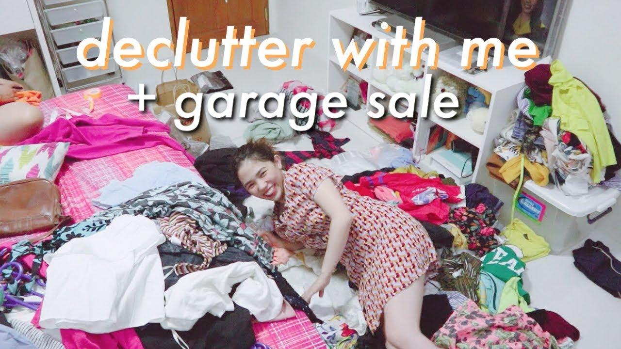 DECLUTTER WITH ME + GARAGE SALE | Weeko