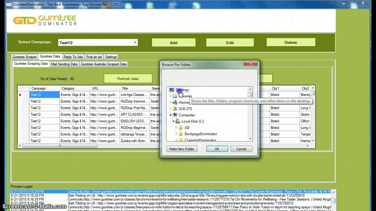 Gumtree desktop site