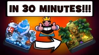 HOW TO GET TO JUNGLE ARENA 9 IN 30 MINUTES! | PERFECT DECK FOR ARENA 8!! | CLASH ROYALE!!!