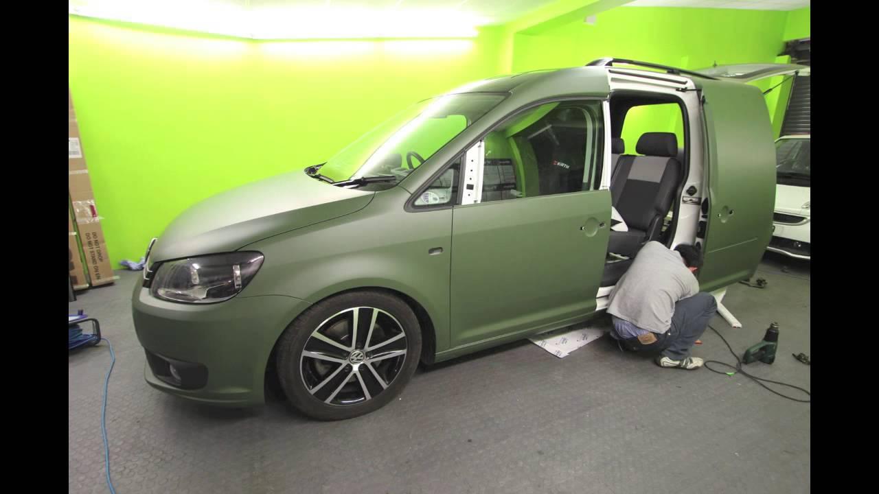 Mk7 Golf R >> Volkswagen Caddy Matte Green Vinyl Wrap - YouTube