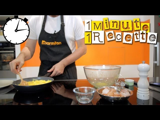 1 Minute 1 Recette : Omelette au fromage