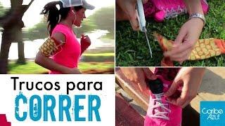 Trucos para correr!!! Brazalete porta celular casero - Porta llave - Mafe Ampuero - Caribe Azul