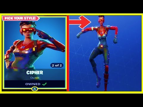 *NEW* CIPHER SKIN WITH 56 DANCE MOVES/EMOTES! | Before You Buy! | (Fortnite Battle Royale!)