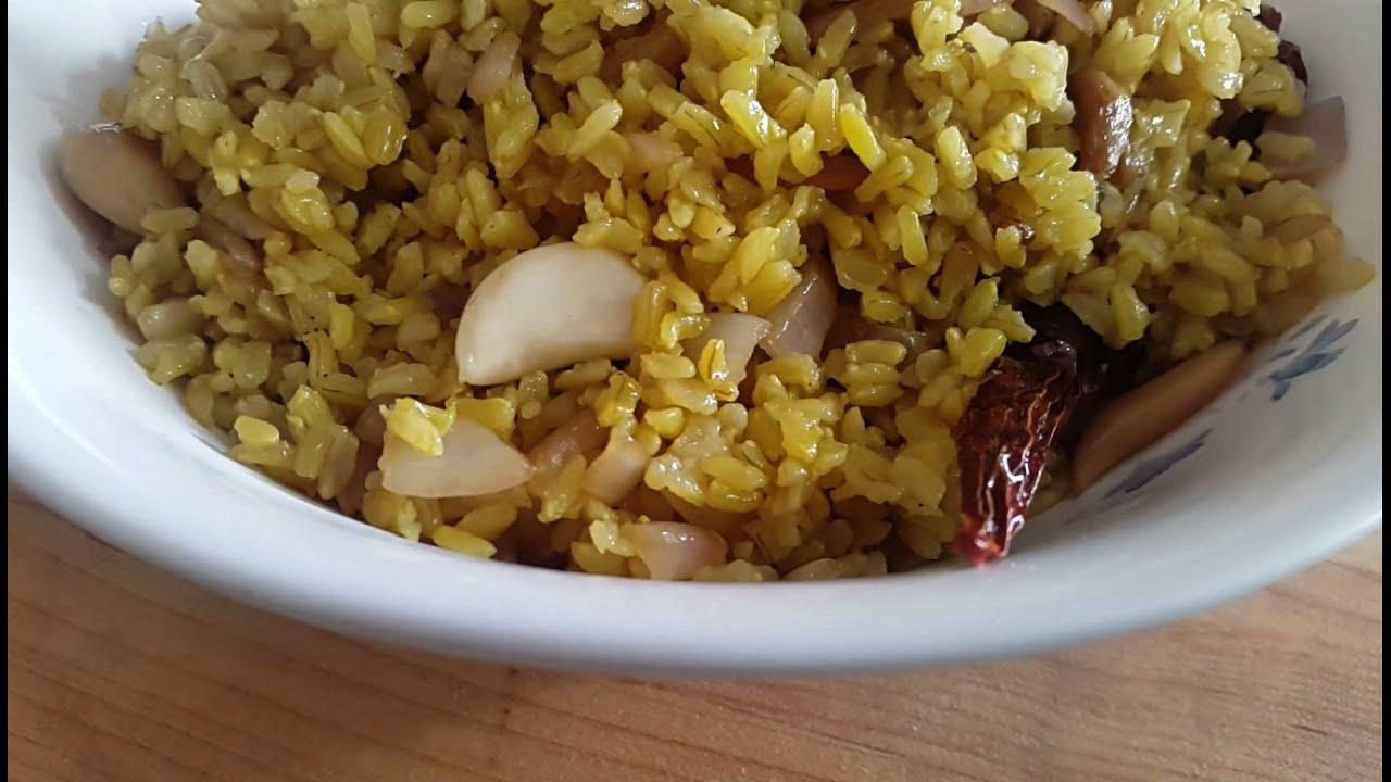Veg Pulao - Pulav -Turmeric Rice Recipe - Brown Rice Pilaf - Brown ...
