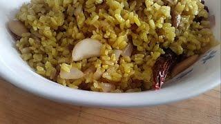 Turmeric Rice Recipe - Brown Rice Pilaf - Brown Rice Recipe - Veg Pulao Recipe - Stir Fried Rice -