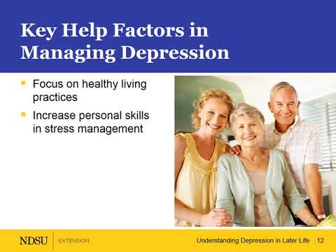 Understanding Depression in Later Life – Key Helping Strategies and Depression