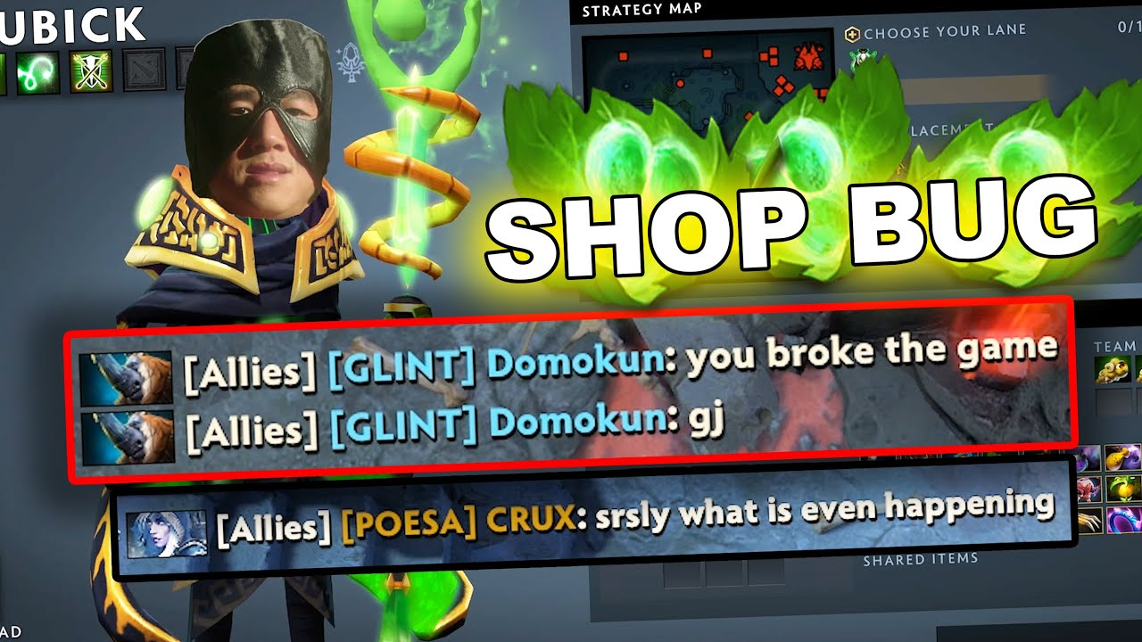 Dota 2 Tricks: BROKEN SHOP (FUNNY ABUSE)! 7.27c