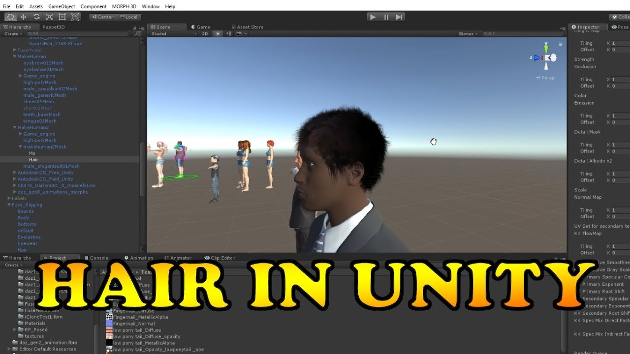 Hair for 3D characters in Unity