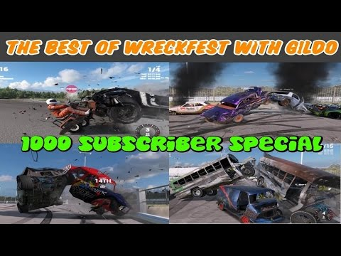 The Best of Wreckfest Banger Racing Moments with Gildo 1000 Subscriber special!!