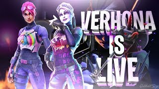 FORTNITE VBUCK GIVEAWAY ENTRIES // ITEM SHOP // GRINDING FOR WINS AND SUBS // 2.7k SUB GOAL
