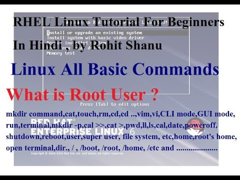 Linux Basic Commands in hindi | All Basic Commands| by Rohit shanu