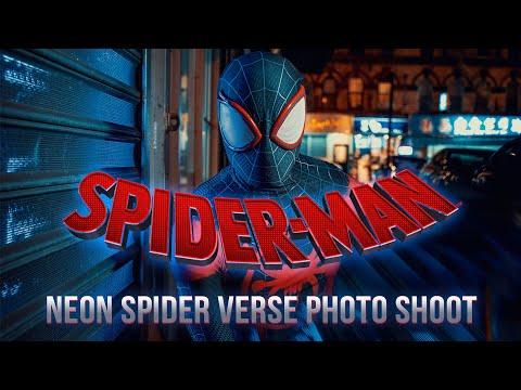 Photographing SPIDER-MAN In New York City | Neon Spider-Verse Photo Shoot