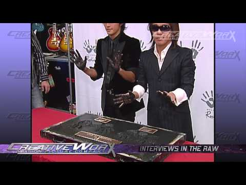 B'z Behind the scenes of RockWalk Induction 2007