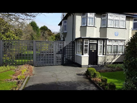 The Beatles historical sites, McCartney's and Lennon's childhood homes, strawberry fields, Woolton