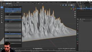 Create a landscape automatically in Blender 2.83 with this built in tool