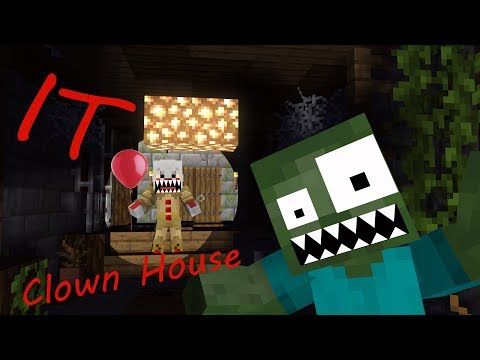 Monster School: It: Clown House Horror - Minecraft Animation