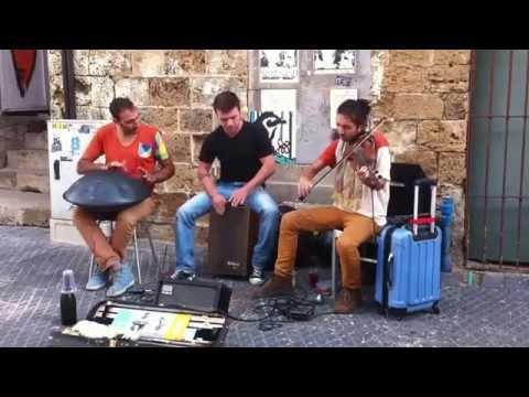 Street music in Jaffa Tel Aviv - Israel \ spacedrum