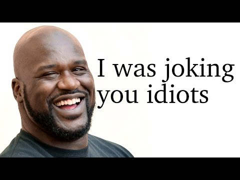 Shaquille O'Neal on his Flat Earth theory - 'I'm joking, you idiots'