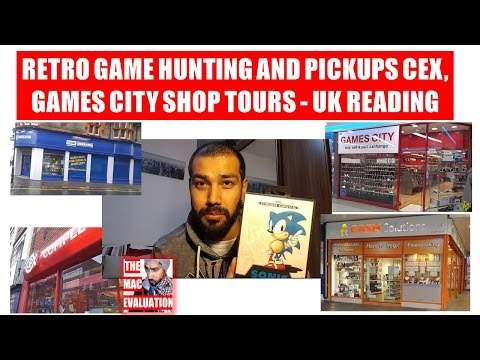 Retro Game Hunting and Pickups CEX, Games City Shop Tours - UK READING