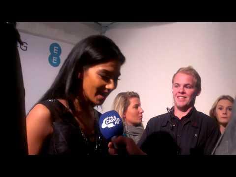 Nicole Scherzinger's Twitter dress at EE's 4G London launch event