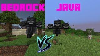 Minecraft Java VS Bedrock - Wither - Donde es más difícil?