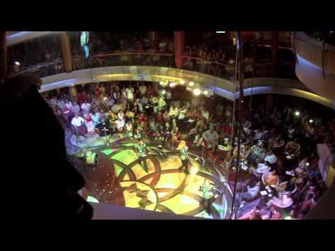 Прощальное представление лайнера vision of the seas (Royal Caribbean)