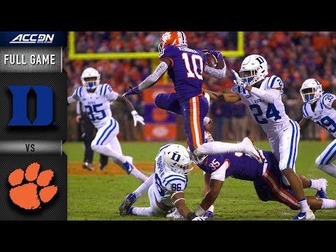 Duke vs. Clemson Full Game | 2018 ACC Football