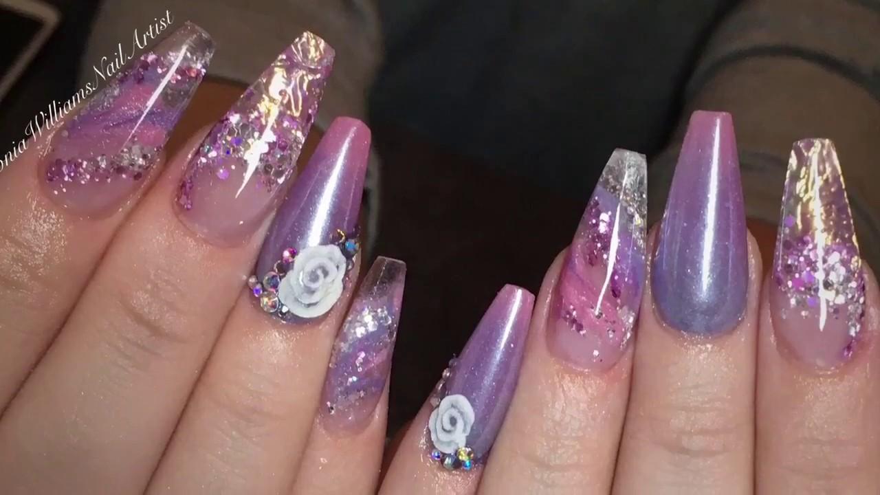 Pixie Princess Acrylic Nails - YouTube