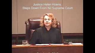 Justice Helen Hoens Steps Down From NJ Supreme Court