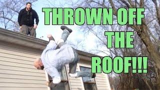 thrown off roof crazy backyard wrestling match grim vs mailman