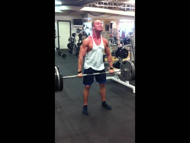 Deadlifts, 315lbs for 4 reps.
