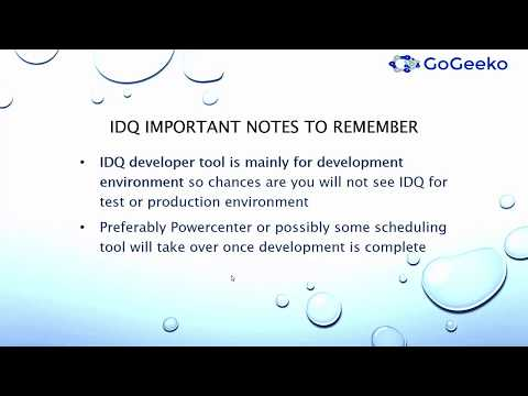 Beginners Informatica Big Data (BDM) Data Quality IDQ 9x overview tutorial 1