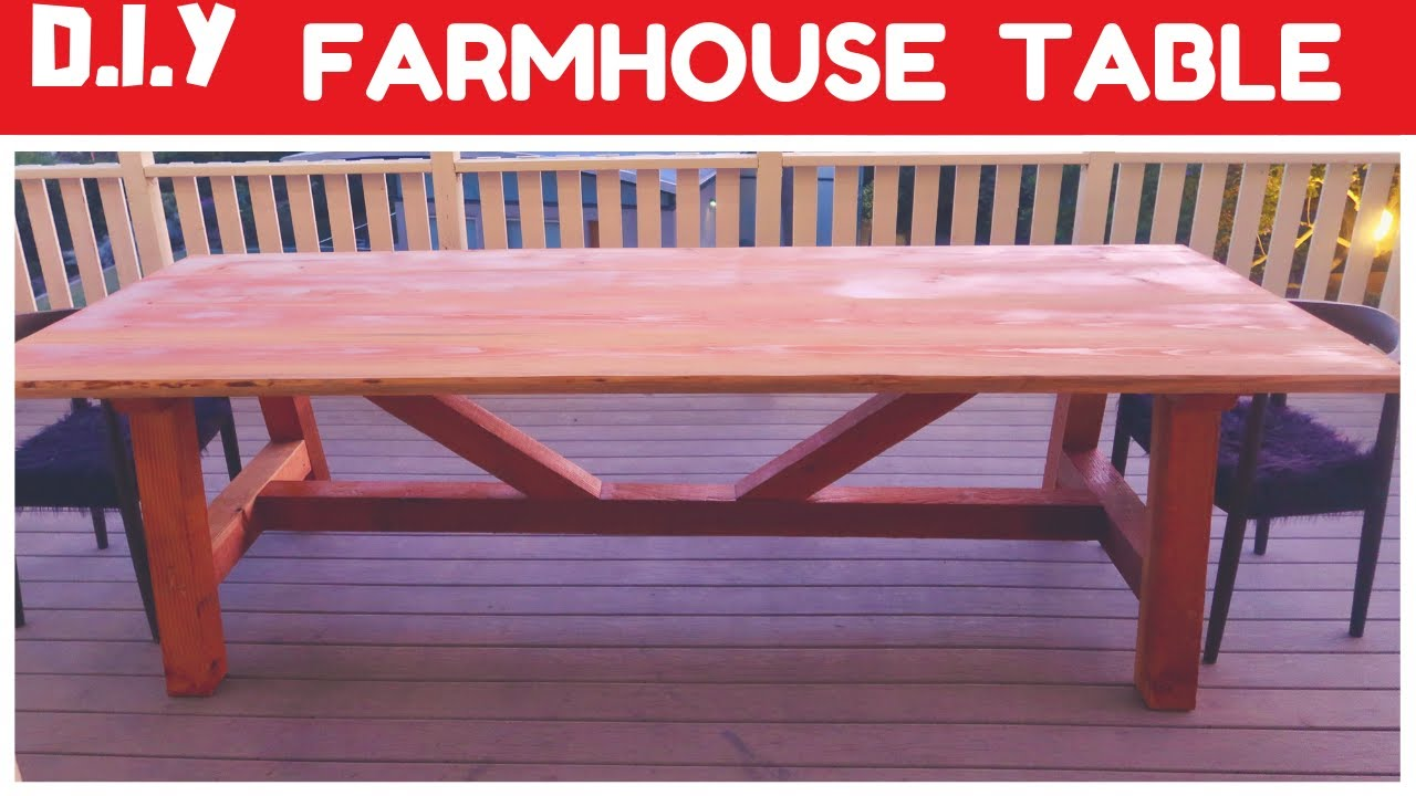 Farmhouse Table Build Farm House Table Design And Woodworking Youtube