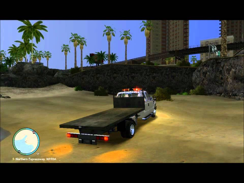 GTAIV Flatbed Tow Truck - YouTube