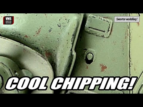 How to create realistic chipping effects on model tank VMS Chip & Nick tutorial
