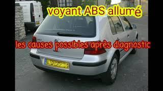 Voyant ABS allumé