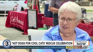 Hot Dogs for Cool Cats promotes cat adoption from 9 Lives Rescue
