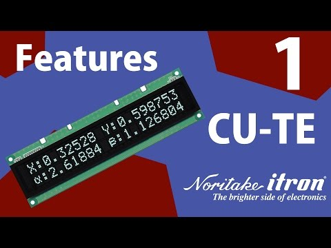 Noritake VFD: CU-TE Features Part 1 - RS 232 Communication
