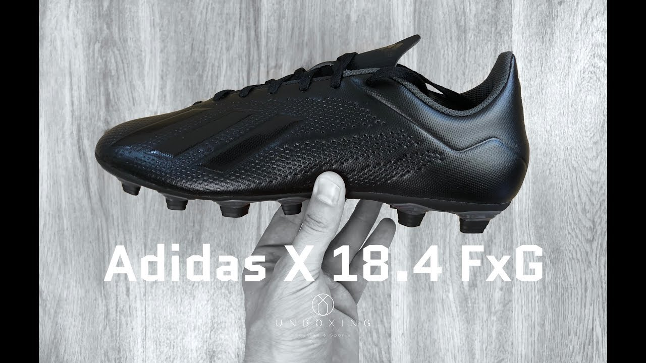 cheap for discount ddf1c 2fe72 Adidas X 18.4 FG  Shadow Mode Pack    UNBOXING   ON FEET   football boots    2018   4K